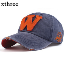 Xthree hot cotton embroidery letter W baseball cap snapback caps fitted bone casquette hat for men custom hats