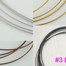 Pick Multi-colors stainless steel wire 1mm for Necklace making DIY  9meters unit