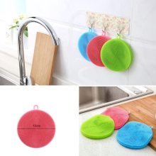 Multifunction Silicone Dish Bowl Cleaning Brush Scouring Pad Pot Pan Wash Brushes Kitchen Cleaner Washing Tool