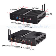 Mini PC Graphique HD 4500 Windows 2*HDMI SD Carte 4 K HTPC Micro Barebone PC NUC Intel Core i7 4500U CE, FCC, ROHS 4* USB 3.0