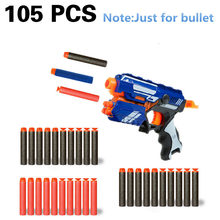 105pcs 7.2cm soft bullet for airguns plastic military sucker warhead dart hollow hole head for children bullets for nerf toy gun(China)