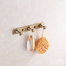 3 Hooks Robe Hook,Clothes Hook,Solid Brass Construction with Antique Finish,Bathroom Hardware,Row Robe Hook Bath Hooks HJ-913F-3