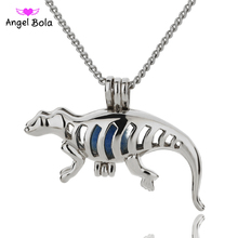 Angel Bola Jewelry Dragon Design Yoga Aromatherapy Essential Oils Surgical Perfume Diffuser Locket Necklace Drop Shipping L145