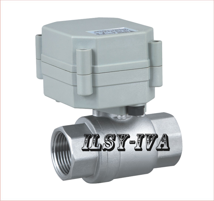 DN15 Stainless steel Miniature Electronic Actuator ball Valve,2 way flow control valve of normal open/close type<br>