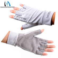 Maximumcatch Fishing Gloves Fly Fishing Anti-UV Sun Protection Half Finger 50+ UPF Outdoor(China)