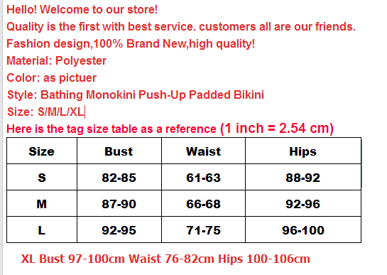 2017 Sexy Women Swimwear Lady One-Piece Swimsuit Bathing Monokini Push-Up Padded Bikinis Women Sexy Bathing Bather Beach Outwear 1