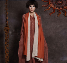 Women cotton linen silk big scarves can do double-sided cloak solid colors scarf & shawl scarves & wraps
