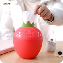 1PC Round Strawberry Tissue Box High Quality Plastic Toilet Paper Holder Large Cartons Towel Rack Broader Tissue Box LF 002