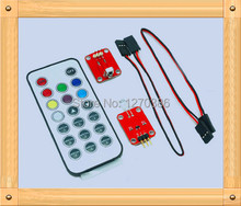 Free Shipping!!!  5pcs Infrared remote control transmitter receiver kit / infrared transmitter + remote control + 38k reception
