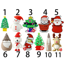 Christmas usb flash drive pen drive 2.0 4gb 8gb 16gb 32gb memory stick Santa Claus U disk Plastic USB 2.0 Merry Christmas Gift(China)