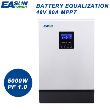 EASUN POWER 80A MPPT Solar Inverter 5000W Off Grid Inverter 48V 220V Hybrid Inverter Pure Sine Wave Inverter 60A Battery Charger