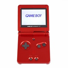 Original AGS-001 Brighter For GBA SP System Game Console For Game Boy Advance Red Professional Gaming Gamepad Game Controller