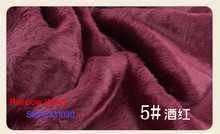 5# Dark Red 1 meter Imitation Rabbit's hair plush fabric height 2cm for DIY colthes overcoat hat carpet material
