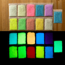 10 color DIY Graffiti Paint Luminous Acrylic Glow in the Dark or phosphorescent, pigment Sand Particles Party Walls #85080(China)