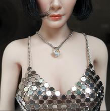 "Custom 1:6 Scale Necklace + Diamond Ring For 12"" Female Body Doll Toy 2pcs(China)"