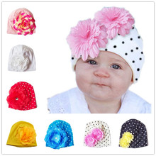 Bnaturalwell Toddler Beanie Baby Girls Perfect Flower Cotton Beanie Kids Hat Fashion Newborn Beanies Photo More Colors 1pc H361(China)