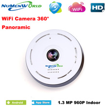 360 Degree smart panoramin IPC Wireless IP Fisheye Camera Support Two Way Audio P2P 960P HD wifi camera(China)