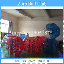 Free shipping Half Clear Half Colour Adults Bubble Soccer, Roll Inside Inflatable Bumper Ball, Bubble Ball Suit