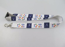 "Custom 5/8"" width National Flag Imprint Cheap Heat Transfer Polyester Lanyards with safety buckle Meeting Lanyards"