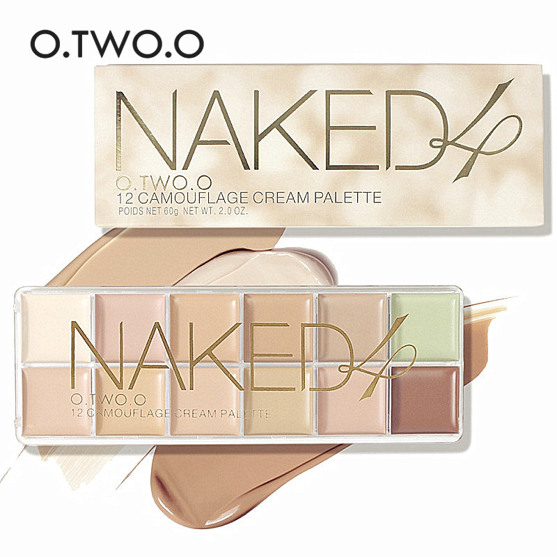 O.TWO.O Professional Concealer Palette 12 Colors Makeup Foundation Facial Face Cream Palettes Cosmetic Make Up(China (Mainland))