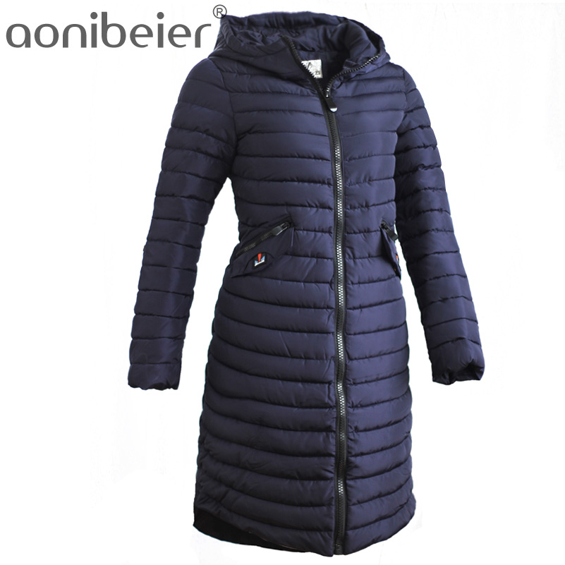 Aonibeier Fashionable Light Cotton Jacket Coat Winter Warm Long Parkas Hooded Thin Women Coat Fashion Slim Female OvercoatÎäåæäà è àêñåññóàðû<br><br>