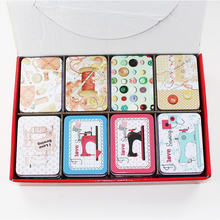 Wholesale Exquisite Cute Tin Box 16Pieces/lot Rectangle Acrylic Makeup Organizer Home Supplies For Tea Head Set Small Things