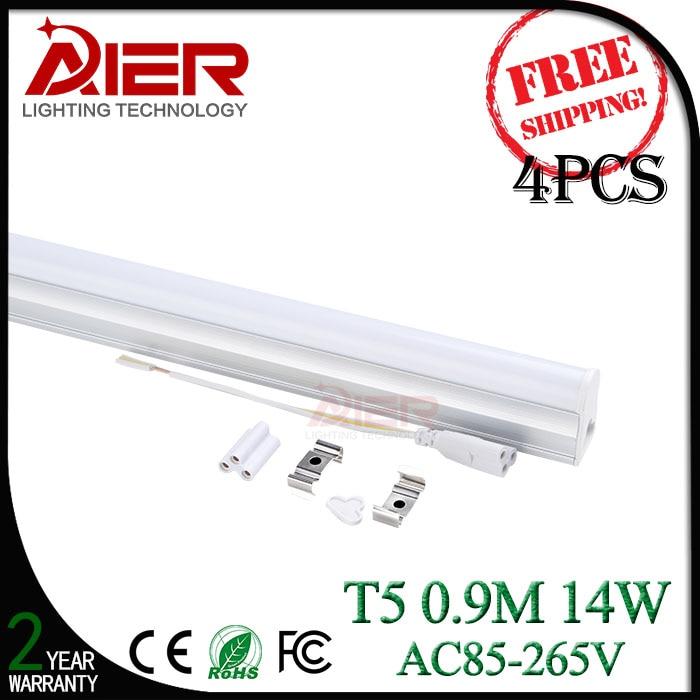 Free shipping 4pieces 900mm led t5 tube light 14Watt<br><br>Aliexpress