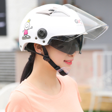 GXT Motorcycle Helmets Double Visor Half Riding Half Helmet Village UV Protector Electric Summer moto helmet(China)