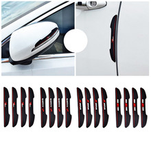 4 x Car Door Anti-collision Rearview Mirror Anti-rub 3D Car Sticker/Decal for Ford Focus Peugeot Renault Toyota Kia volkswagen(China)