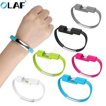 OLAF Hot Bracelet Micro USB Charger Data Charging Cables Sync Cord Type-c Cable Samsung S9 Android USB Phone Charger cables