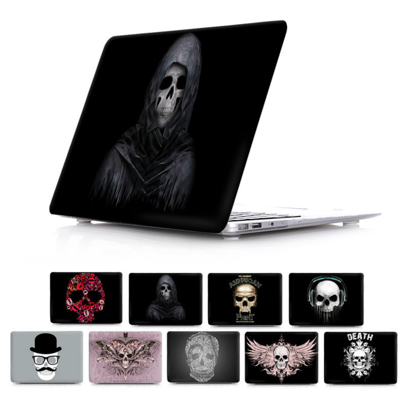 Horror Skull Hard Crystal Clear Cover air 11 13 12 A 1369 A1534  pro 13 15 with retina Case for Apple Macbook 13.3 inch A1425<br><br>Aliexpress