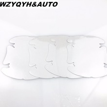 4pcs Side Door wrist Protective Film Vinyl Fit for vw polo golf skoda octavia fabia rapid yeti superb octavia seat mazda toyota