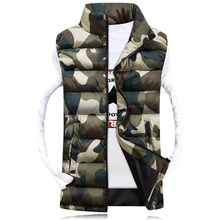 2016Men's Stand Collar Camouflage Vest Men Winter Sleeveless Casual Jackets Male Female Slim Camo Waistcoat Brand Clothing,SA031