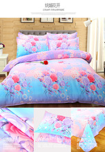 Bedding Sets Love flowers 4 Pcs Quilt Cover Fashion Bed Sets Very Soft Good Quality King Queen Full Twin(China)