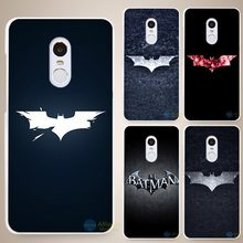 superhero batman Hard White Cell Phone Case Cover for Xiaomi Mi Redmi Note 3 3S 4 4A 4C 4S 5 5S Pro