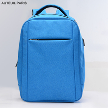 AUTEUIL PARIS Backpacks School Bags for Teenagers Laptop Bag 15.6 for Men Travel Backpack Blue Japanese School Bags for Boys
