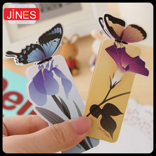 Beautiful 50 pcs/lot 3D Butterfly Bookmark For Birthday Christmas Gift Book Marks Office School Supplies students stationery