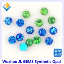 (50PCs/lot) Making Opal Jewelry 4mm Round Cabochon Synthetic Opal Round Shape Cabochon Free Shipping