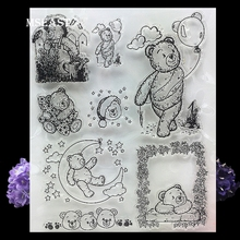 MSEAST craft lovely teddy bear clear stamp Scrapbook DIY photo cards account Transparent rubber Stamp Design Decoration Supplies(China)