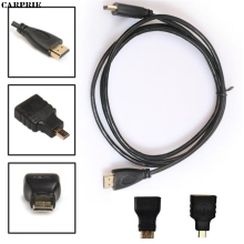 CARPRIE 1M 3in1 HDMI to HDMI/Mini/Micro HDMI Adaptor Cable Kit HD for Tablet PC TV(China)