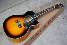Free shipping High Quality sj200 Acoustic Guitar Vintage Sunburst can add fisherman pickup add add hardcase in stock .
