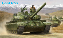 Trumpeter model 01554 1/35 Russian T-62 BDD Mod.1984 (Mod.1972 modification) model kit
