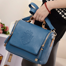 NEW Leather Bags Shoulder Bag With Double Zipper Handbag Messenger Bags For Ladies