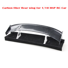 Universal Carbon Fiber Rear Wing Spare Tuning Parts for 1/10 HSP RC Drift Cars Hot Sales Best Price(China)