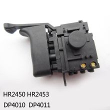 Free shipping!  Electric hammer Drill Speed Control Switch for Makita HR2450 /HR2453/DP4010/DP4011,Power Tool Accessories