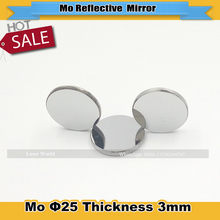 1pcs  Mo CO2 Laser Reflection Len Dia 25mm Thickness 3mm Molybdenum Reflecting Mirror for Laser Engraver Cutting Machine