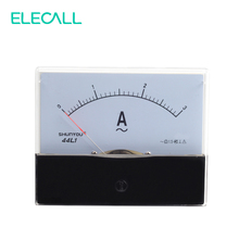 ELECALL 44L1 3A Square Shape Analog Amp Panel Meter Current Ammeter AC 0-3A Vertical Installation(China)