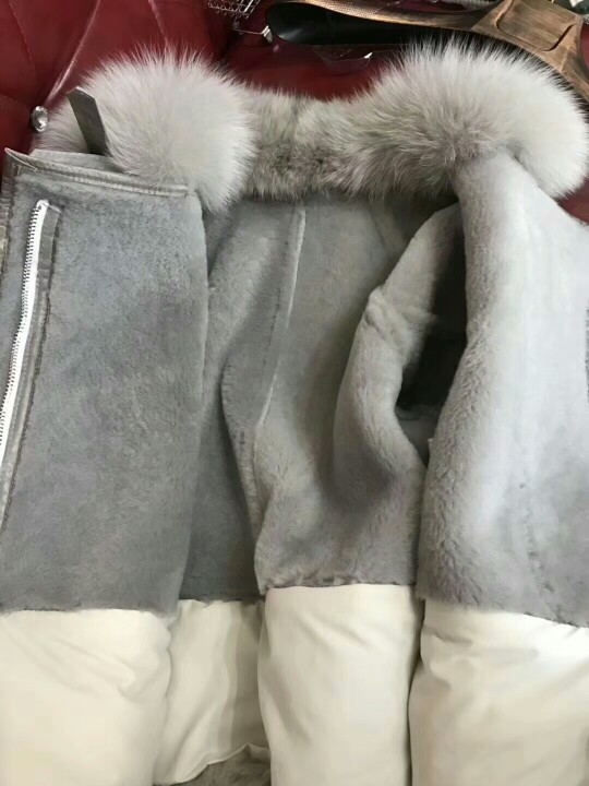 genuine sheep leatherskin jacket fox fur cooar coats (38)