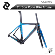 OG-EVKIN high quality super light carbon bike frame road  China 3k Glossy di2 49/52/54/56cm 2017 BB386