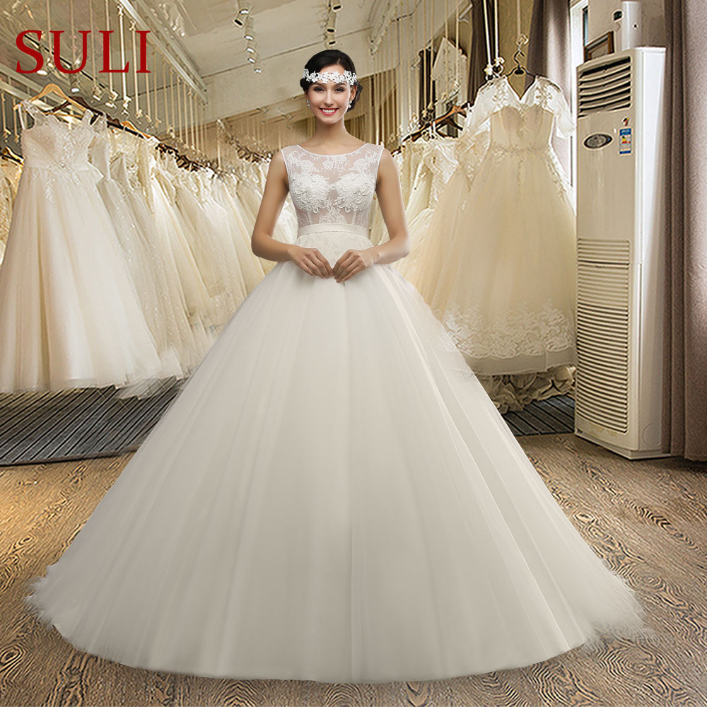 MZ0032 See Cheap Sexy Long Chapel Train Lace Back Tulle A-Line Wedding Dresses